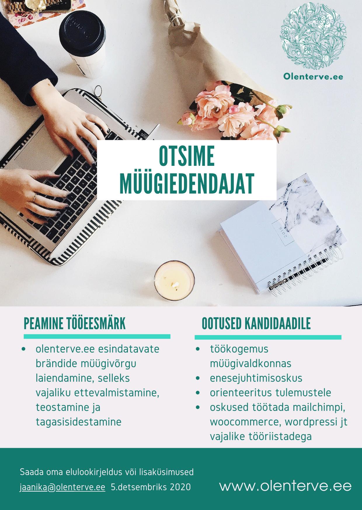 Töökuulutus müügiesindaja olenterve.ee (1)